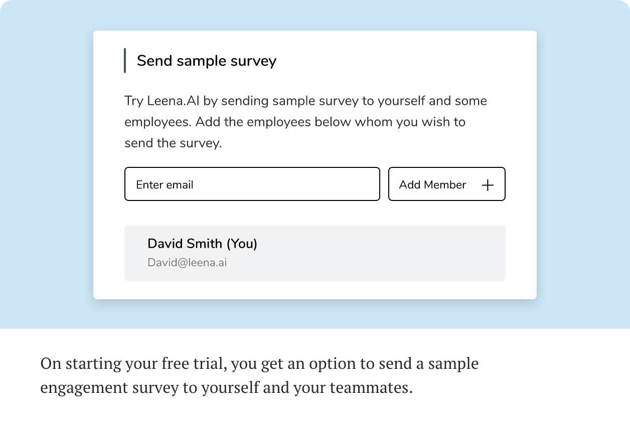 Get a sample survey