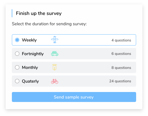 Engagement survey frequency